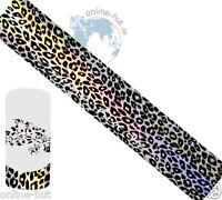 Transferfolie Leopard-Hintergrund Silber-Schimmer Hologramm, Nailart, Nr.TRF-177