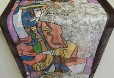 ART SCARF PICASSO ABSTRACT MAN SILK FEEL SCARF