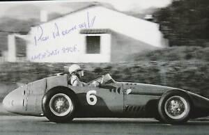 KEN KAVANAGH - ORIG SIGNED PHOTO: DECEASED GRAND PRIX DRIVER - MASERATI 250 F