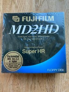 10 FUJIFILM MD2HD 5,25 5 1/4 Zoll Disketten IBM PC Formatiert Neu & OVP