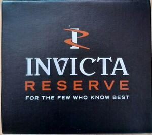 INVICTA's RESERVE NEW Black & Red Men's empty watch box