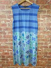 Gudrun Sjoden L Dress Sleeveless Summer Sundress Floral Chevron