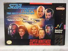 New ListingStar Trek: The Next Generation Future's Past Super Nintendo Video Game Complete