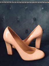 Authentic Emporio Armani Patent Leather Nude Pumps Size 37.5