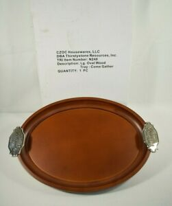 Thirstystone - Come Gather at Our Table - Large Oval Wood Serving Tray - New