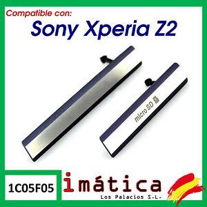 TAPA MICRO USB TARJETA SD NANO SIM SONY XPERIA Z2 L50W D6503 NEGRO LATERAL CUBRE