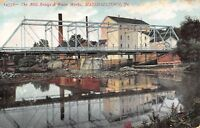 Marshalltown IA~Fallgatter Flour Mill~Dam~Water Works~Bridge Center Street~1907