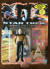 "STAR TREK GENERATIONS LT Commander Data Action Figure Playmates 1994 NOC ""rough"""