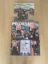 CYNDI LAUPER Detour BLUE VINYL LP SEALED Set 5 Magazines GAY INTEREST