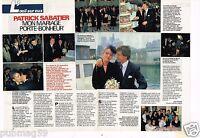 Coupure de presse Clipping 1988 (2 pages) Mariage de Patrick Sabatier