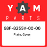 68F-8255V-00-00 Yamaha Plate, cover 68F8255V0000, New Genuine OEM Part