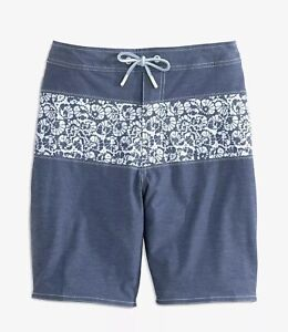 "NWT Johnnie -O Size XL ""Lobos"" Helios Blue Board Short Swim Trunks $89"