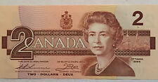 1 x 1986 Canada $2 Bank Note EXTRA FINE+ (EF+) Thiessen/Crow