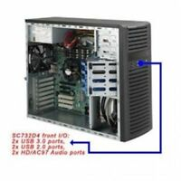 Supermicro SuperChasis SC732D4-500B System Cabinet - Mid-tower - Black - 7 x Bay