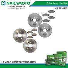 Nakamoto Front & Rear Premium Posi Ceramic Disc Brake Pad & Rotor Kit for Toyota