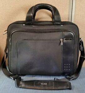 Tumi 23641D Ballistic Black Nylon w/ Leather Expandable Briefcase Laptop Bag
