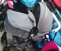 baby pram 2 in 1 pushchair stroller buggy carrycot travel system