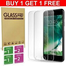 Buy 1 Get 1 FREE Apple iPhone 6/ 6S/ 7/ 8 Mobile Tempered Glass Screen Protector