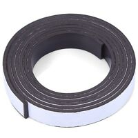10 x 1.5mm 1m Self-adhesive Flexible Rubber Magnet Strip Tape Roll AUK