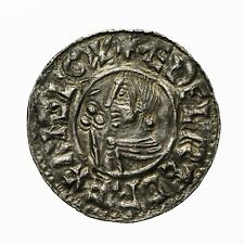 More details for saxon aethelred ii crvx type penny  byrning m-o hamt  s1148  northampton mint