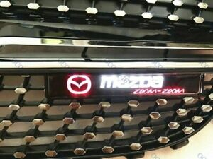 For MAZDA LED Light Car Front Grille Badge Emblem Illuminated Bumper Sticker