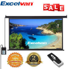 """NEW 100"""" Electric Projector Screen Projection Home Cinema Theater 16:9 +Remote"""