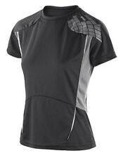 Abbigliamento sportivo da donna traspirante nero taglia S
