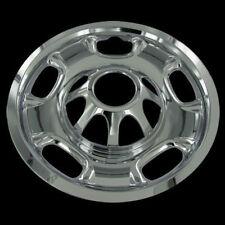 "For GMC 2500 3500 Silverado 17"" CHROME 8 Lug Wheel Skins Hub Caps Covers Set"