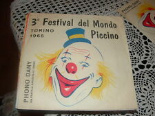 """3° FESTIVAL DEL MONDO PICCINO TORINO'65 """" AMICO NEGRO + 3 """" E.P.  ITALY'65"""