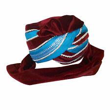 Men Hat Traditional Designer Sherwani Pagri Handmade Groom Turban Top Pag