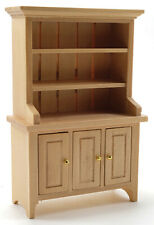 Miniature Dollhouse Oak Hutch  1:12 Scale New
