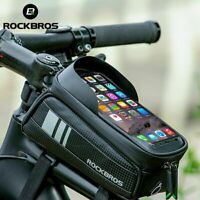 ROCKBROS Bicycle Bag Front Tube Rack Bag Touch Screen Waterproof Bicycle