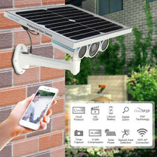 Wireless Security IP Camera Outdoor Solar Panel Battery Wifi Web Surveillance