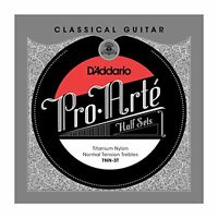 D'Addario Pro-Arte Titanium Nylon Classical Guitar Half Set, Normal Tension