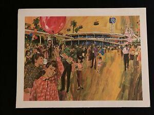 Carousel of Progress Concept Art from GE Promotional Calendar 1960s Disneyland