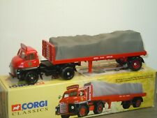 Bedford S Type Tractor Unit with Flat Trailer - Corgi 19901 in Box *39094