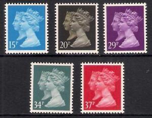 GB 1990 sg1467 1469 1471 1473 1474 Penny Black 150th Anniversary set of 5 MNH