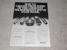 Sony Microphone Ad, 1980, ECM-990f,56f,260f,33f,23f,1pg