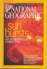 "NATIONAL GEOGRAPHIC ""SUN BURSTS: HOT NEWS FROM OUR STORMY STAR"" JULY 2004"