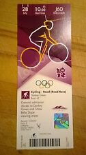 LONDON 2012 TICKET CYCLING ROAD RACE BOX HILL 28 JULY 1000 J60 *MINT*
