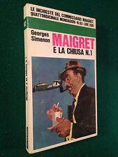 Georges SIMENON - MAIGRET E LA CHIUSA N.1 , Le Inchieste n.62 (1968)