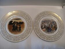 2 PLATES WITTNAUER COLLECTORS GUILD. IN THE MOWING, CENTRAL PARK WINTER