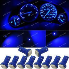 10x Pure Blue T5 73 74 Instrument Speedometer Dashboard LED Lights Bulb For Ford