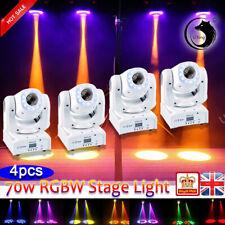 U`King 4PCS 70W Stage Lighting RGB LED DMX512 Moving Head  Gobos DJ Disco Light
