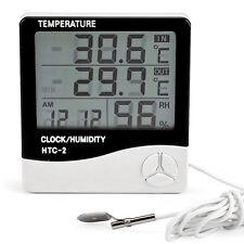LCD Temperatur Feuchtigkeit Hygrometer Luftfeuchtigkeit Thermometer Uhr Alarm