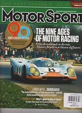 MOTOR SPORT MAGAZINE UK JULY 2014,90 ANNIVERSARY SPECIAL,NINE AGES OF MOTOR RACI