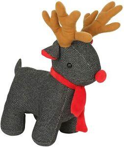 Decorative Door Stopper Cute & Funny Animal Door Stop Holders (Grey Reindeer)