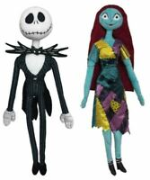 "Nightmare Before Christmas Jack Skellington and Sally Posable Plush 26"""