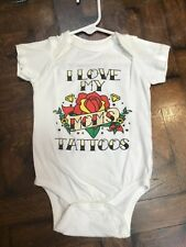 Love My Mom's Tattoos Bodysuit SZ 12 M