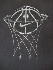 NIKE SWOOSH BASKETBALL HOOP - BLACK XL T-SHIRT-A471